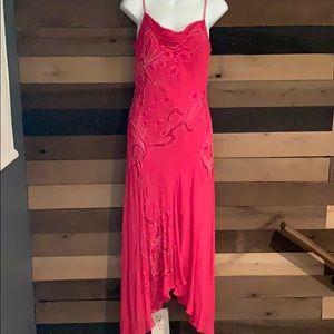 Hot Pink Asymmetrical Dress